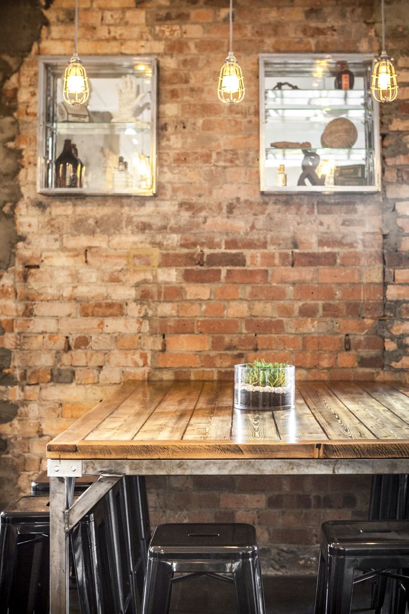 industrial and rustic a cafe combination we love with coffee karrottopdesign