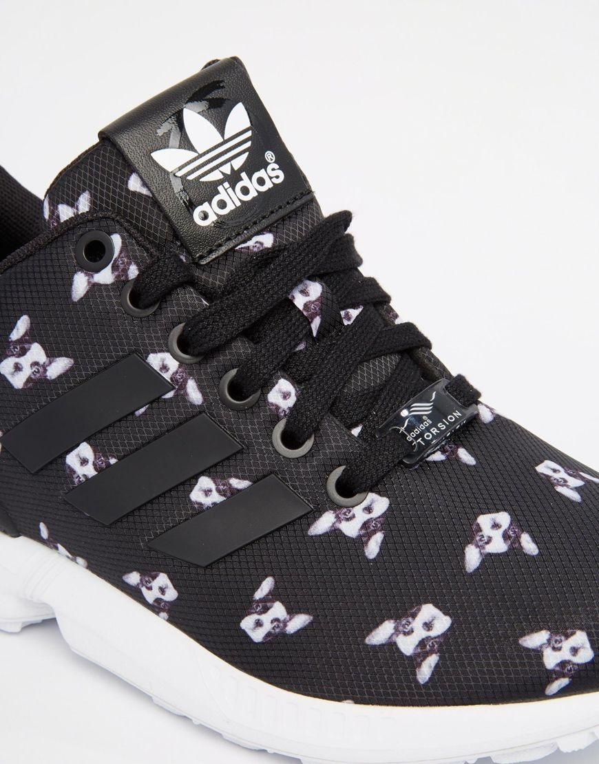 the latest daaf0 b2af8 Adidas   adidas Originals x Rita Ora Dog Print ZX Flux Trainers at ASOS !