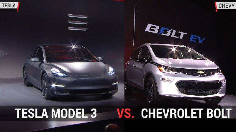 Tesla Model 3 Versus Chevy Bolt Tesla Model X Chevy Self Driving