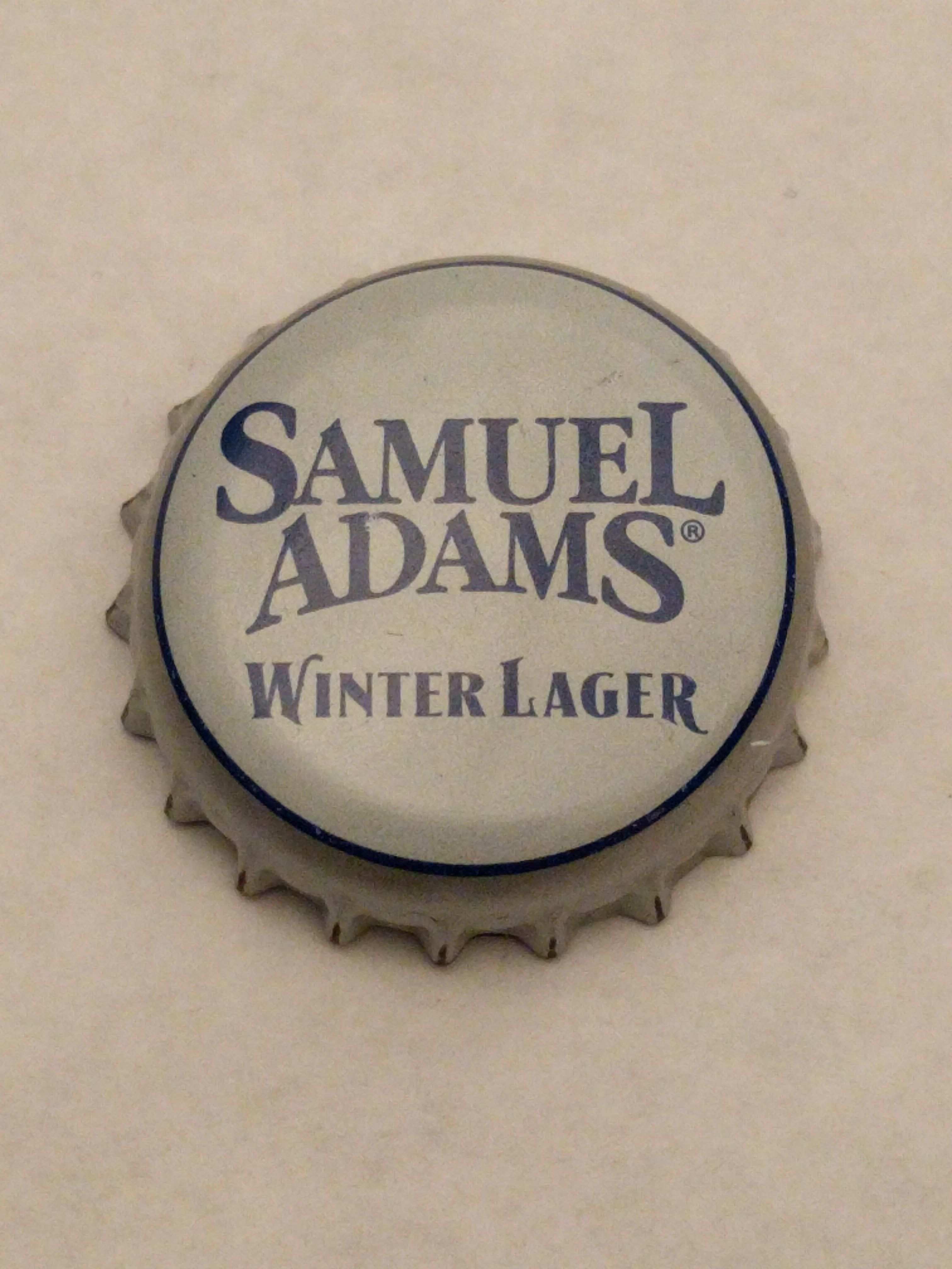 Cap#17 Samuel Adams Winter Lager Boston Beer Company Jamaica Plains, Massachusetts Condition: Perfect, small dents