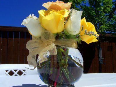 Floral Centerpiece Arrangements For 50th Wedding Anniversary Party