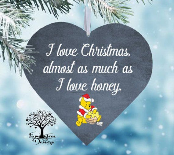 Christmas ornaments Winnie the pooh Christmas gift Family ornament