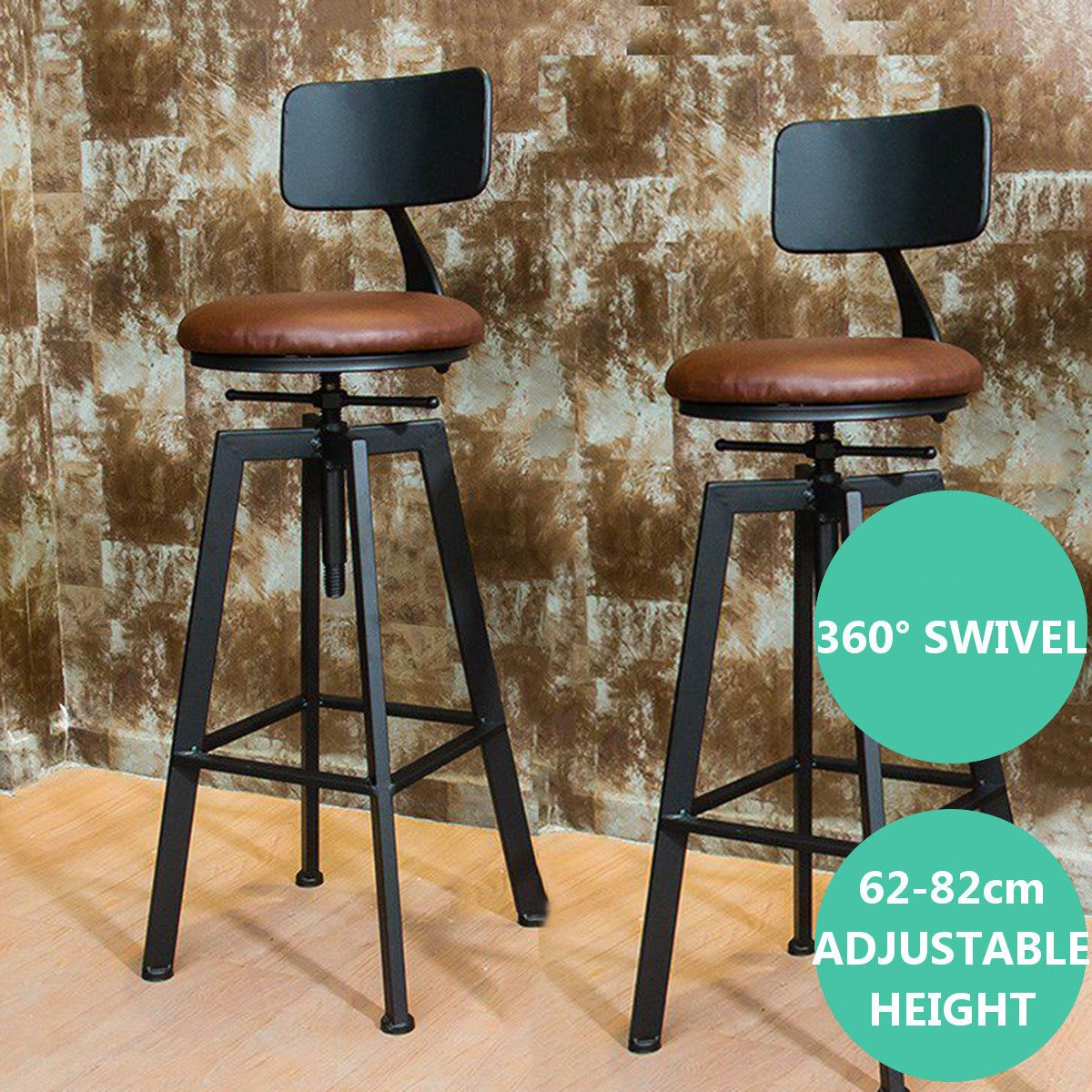 Industrial Rustic Bar Stool Breakfast Kitchen Bar Cafe Counter Chair Vintage Us Ebay Rustic Bar Stools Bar