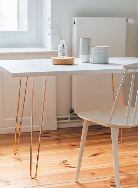trivial project hairpin legs tischbeine in kupfer i erh ltlich in 2 h hen diy pinterest. Black Bedroom Furniture Sets. Home Design Ideas