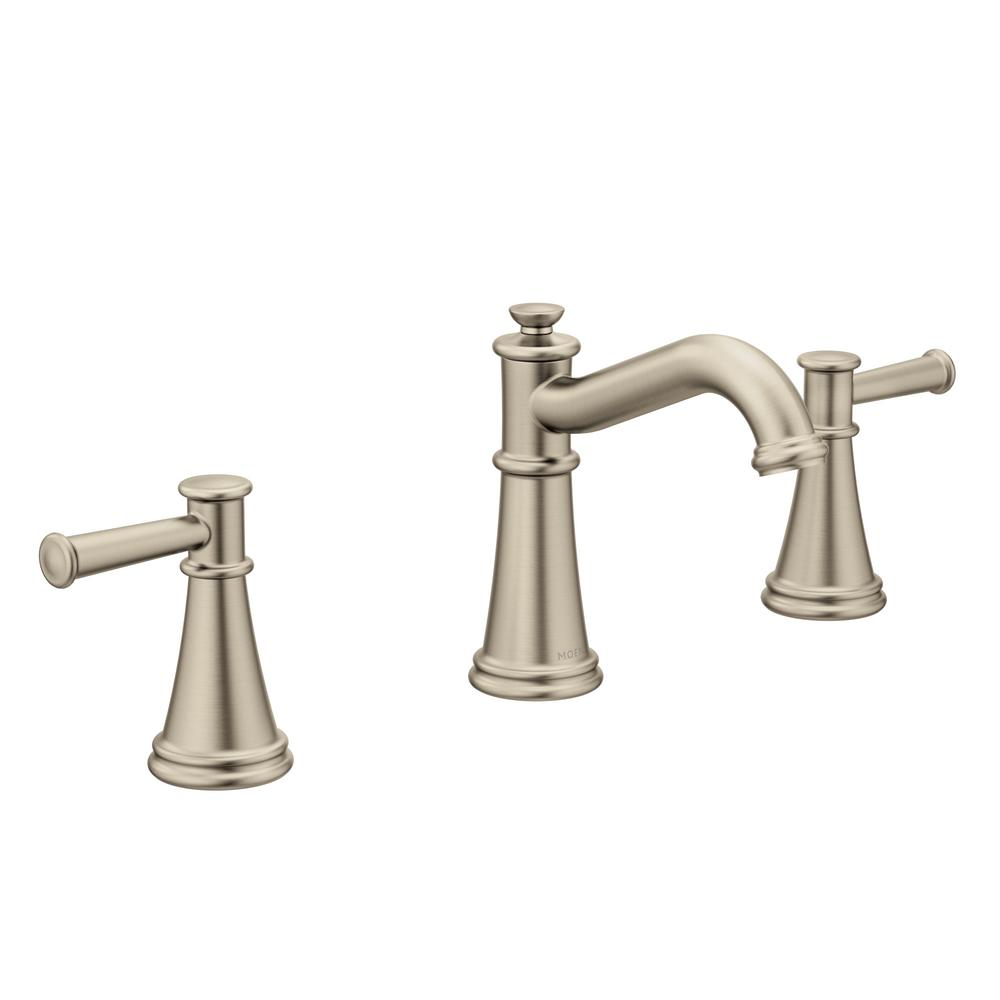 Moen Belfield 8 In Widespread 2 Handle Bathroom Faucet In Brushed Nickel Widespread Bathroom Faucet Sink Faucets Bathroom Faucets