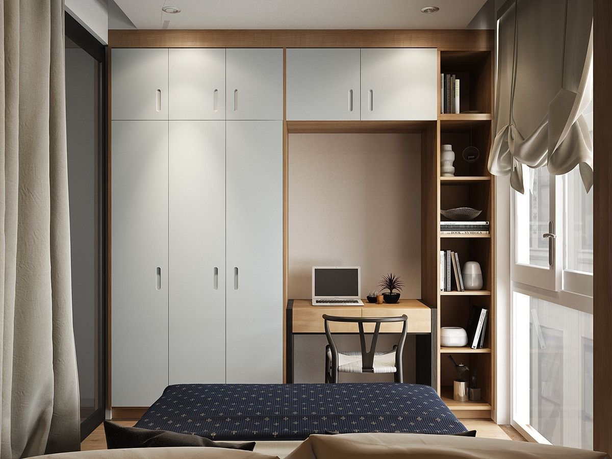 47 small bedroom design ideas for maximizing your small - Maximize storage in small bedroom ...