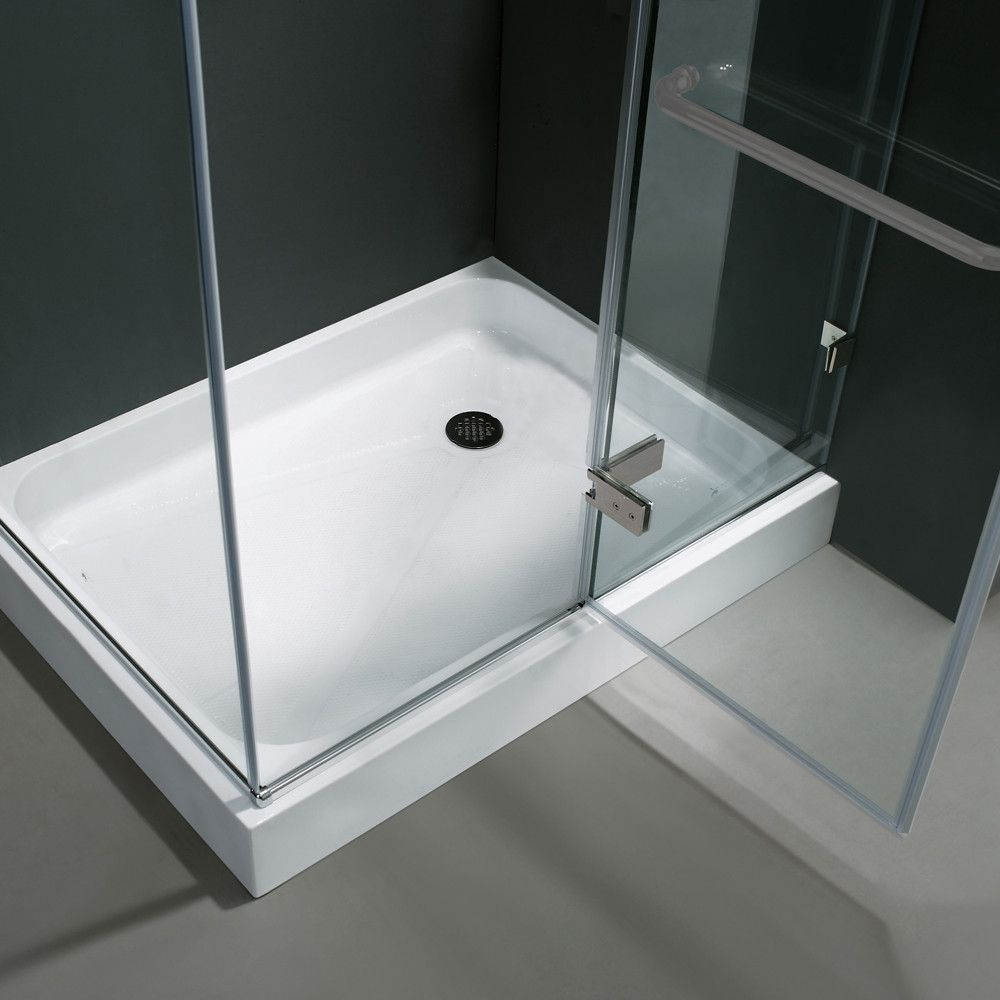 Monteray 46 W X 73 375 H Rectangle Hinged Shower Enclosure