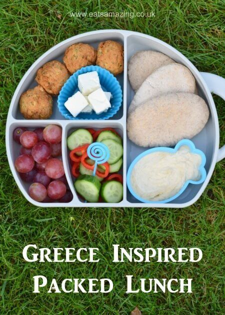Easy and healthy packed lunch idea for kids inspired by ancient easy and healthy packed lunch idea for kids inspired by ancient greece fun bento box forumfinder Choice Image