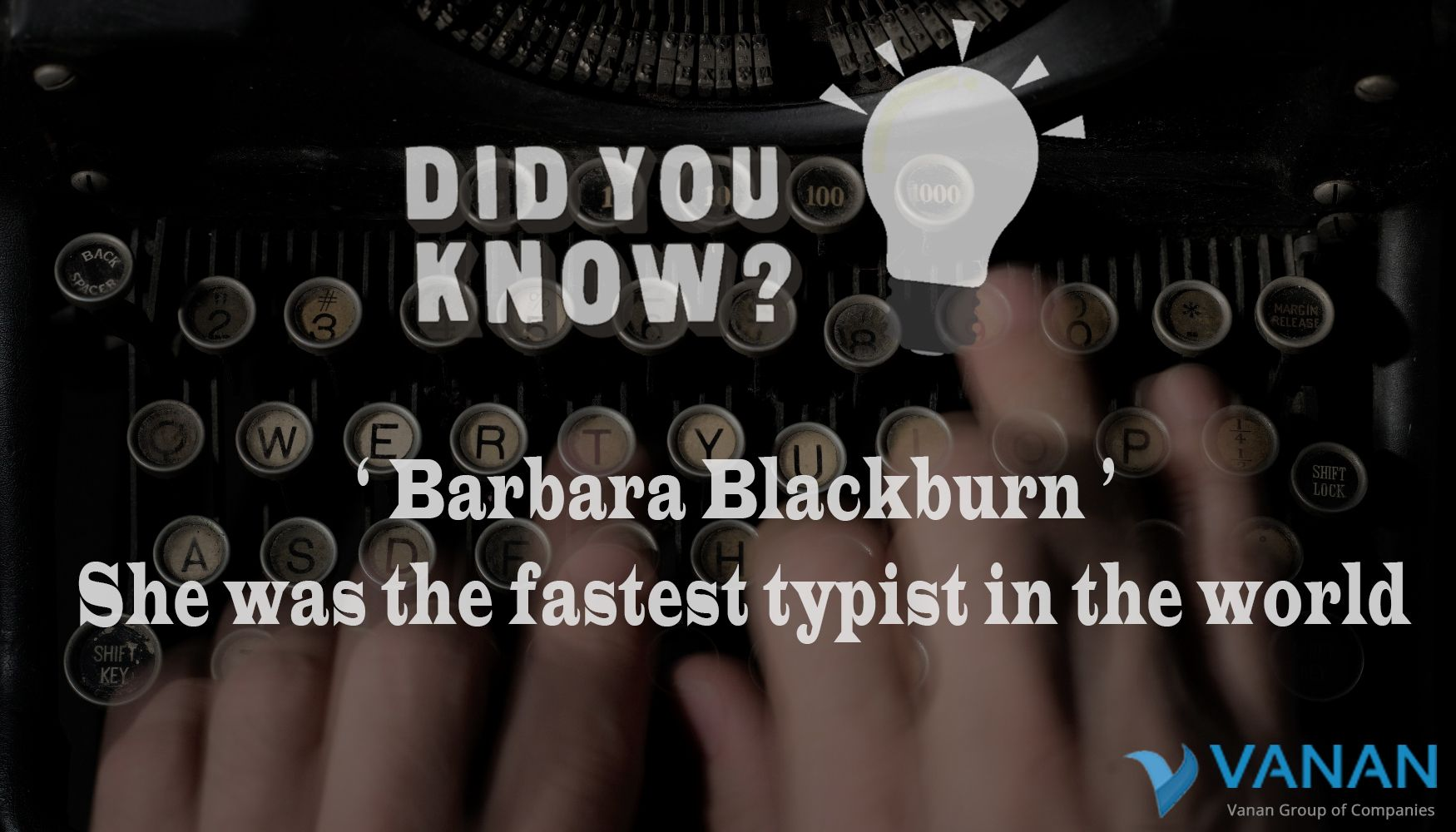 #Didyouknow? Who is the Fastest Typist in this world #Typing #Vananservices