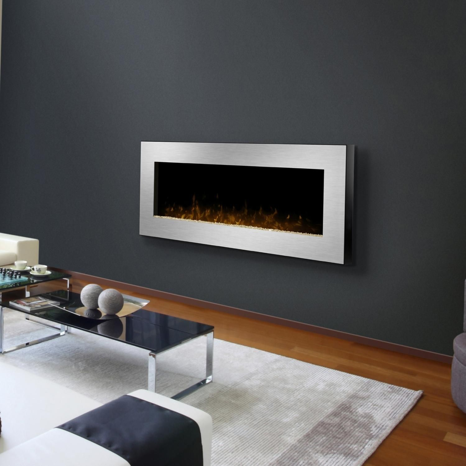 electric heat heater fireplace artificial bottom real inserts vent but without front wall look mount delightful of mounted images with the