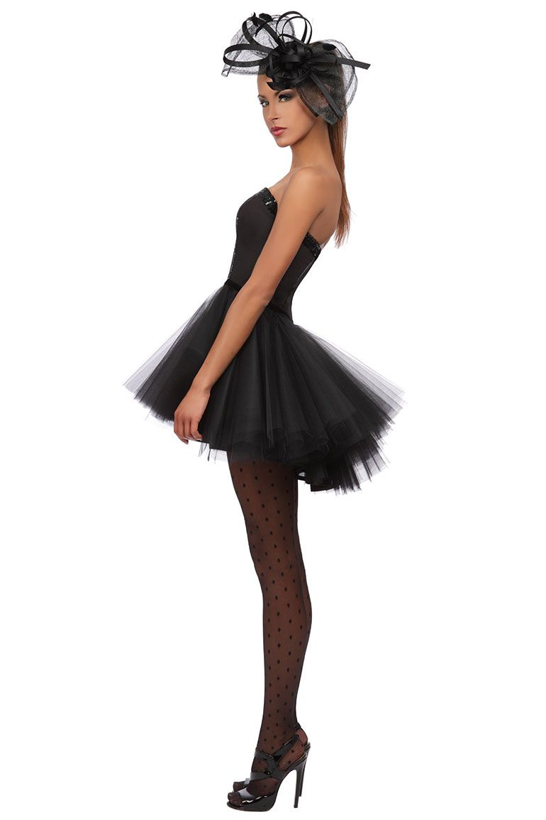 robe bustier inspiration tutu en tulle noir robedesoiree tutu petiterobenoire mode. Black Bedroom Furniture Sets. Home Design Ideas