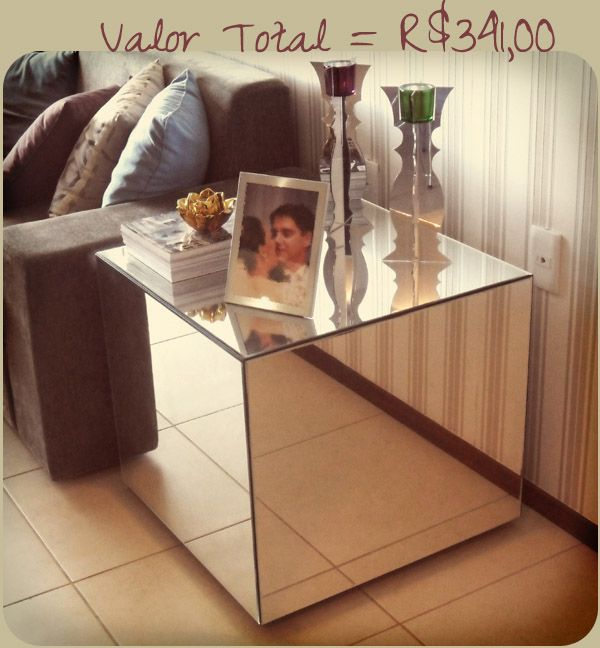 Armario Antiguo Restaurado ~ DIY Mesa lateral espelhada! Sala de Estar Pinterest Mesas e Faça voc u00ea mesmo