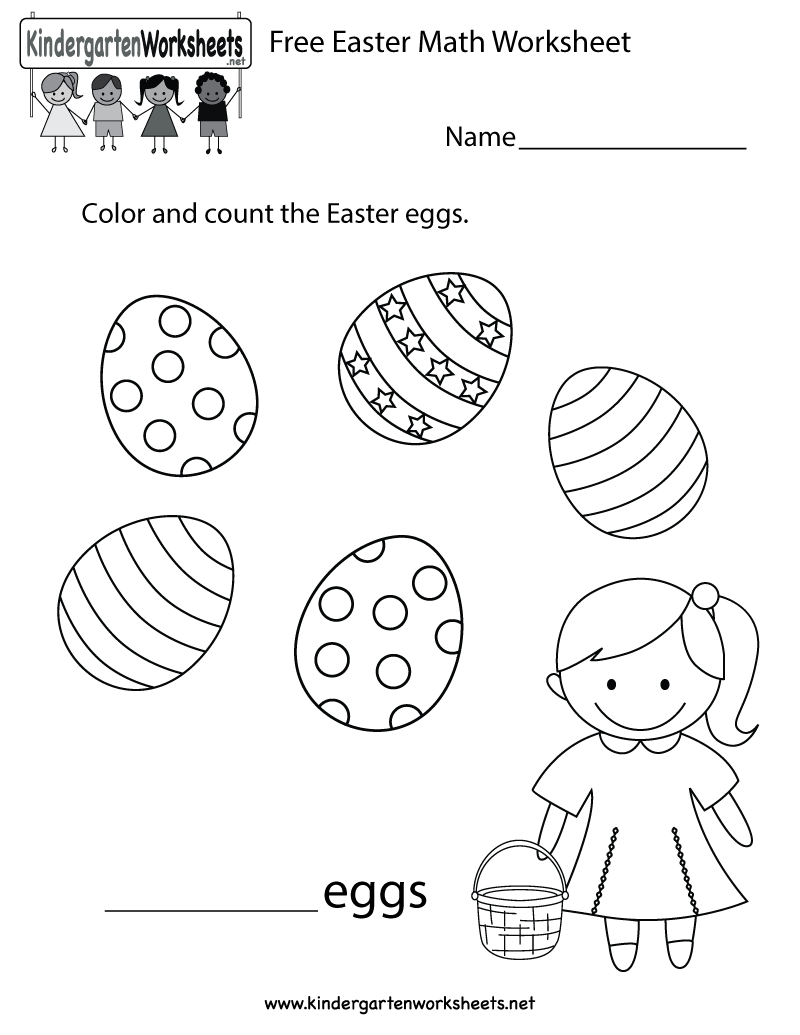 medium resolution of Easter counting worksheet that can also be turned into a fun coloring page.  You can download