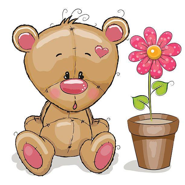 pinterest teddy bear decorative teddy bear with pink flower mightylinksfo