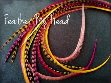 Feather hair extensions do it yourself diy kit 16 pc thin feather hair extensions do it yourself diy kit 16 pc thin feathers medium long 7 9 18 23cm red pink orange yellow lifes a beach tequila solutioingenieria Image collections