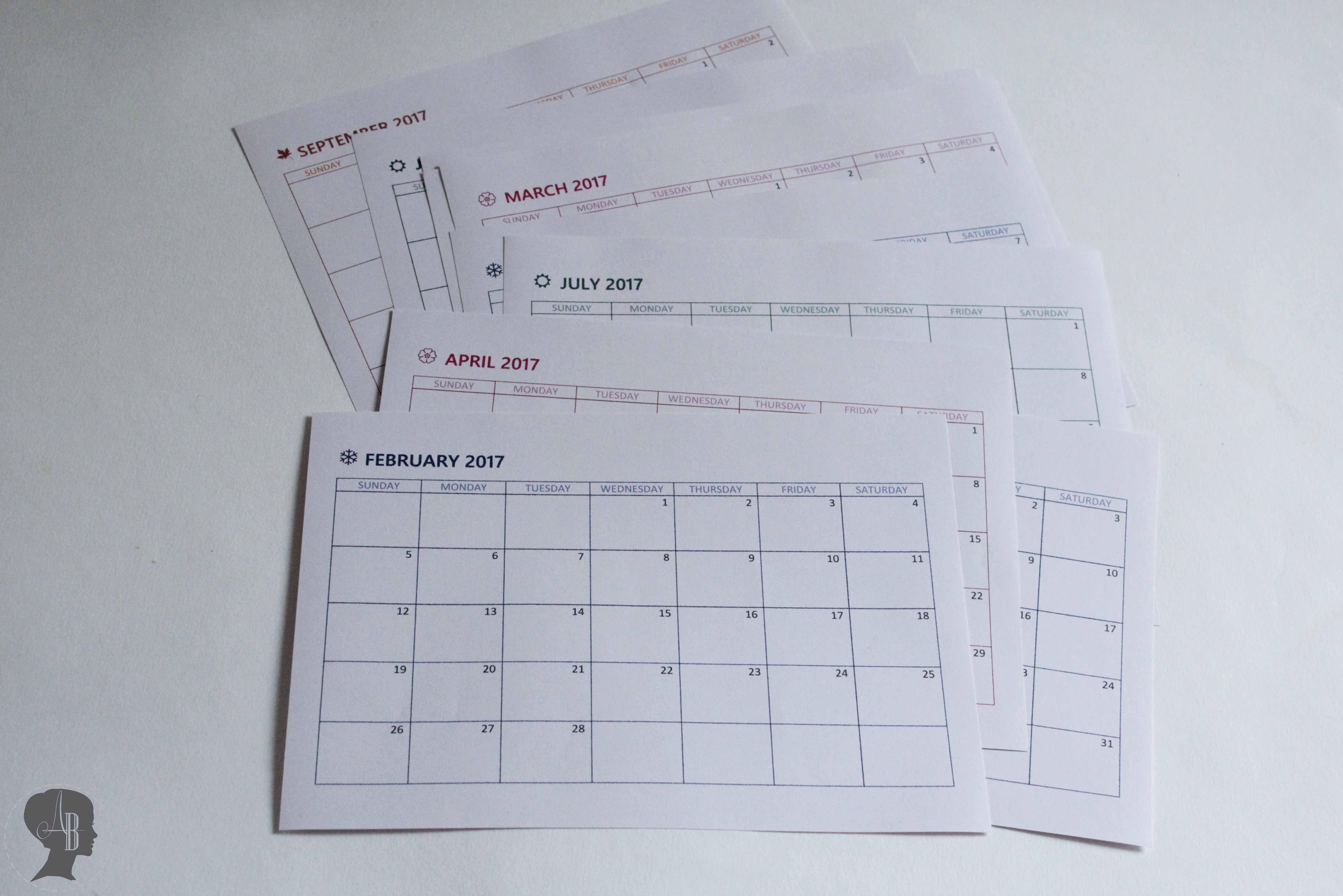 diy kalender 2017 zum drucken filo pinterest diy kalender kalender 2017 und kalender. Black Bedroom Furniture Sets. Home Design Ideas