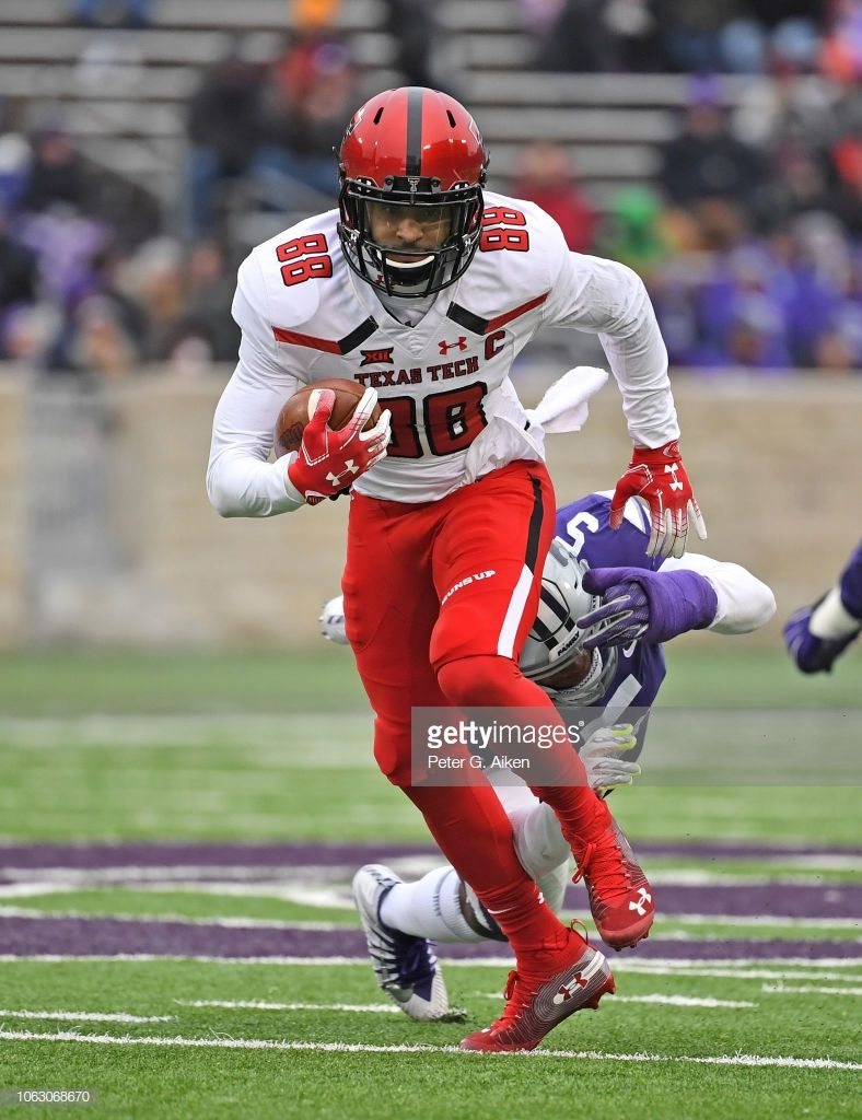 Wide receiver Ja'Deion High of the Texas Tech Red Raiders