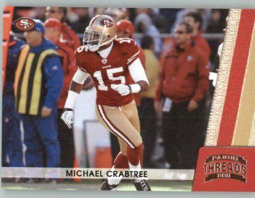 2011 Panini Threads Football Card #126 Michael Crabtree - San Francisco 49ers - NFL Trading Card by Panini. $1.89. 2011 Panini Threads Football Card #126 Michael Crabtree - San Francisco 49ers - NFL Trading Card
