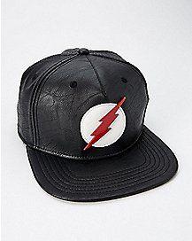 huge selection of 7dbe6 cbaa6 Black The Flash Snapback Hat - DC Comics Superhero Hats, Novelty Hats, Snap  Backs