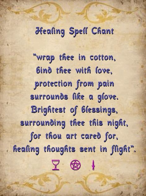Healing Spell Chant Light A White Candle And This Three Times Over While Holding