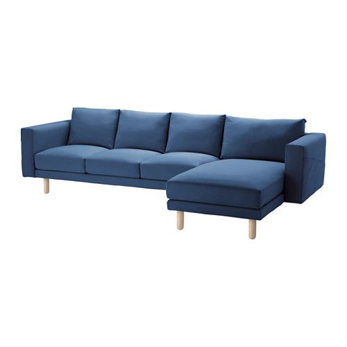 NORSBORG Sectional, 4-seat, Finnsta dark gray, birch | Norsborg ...