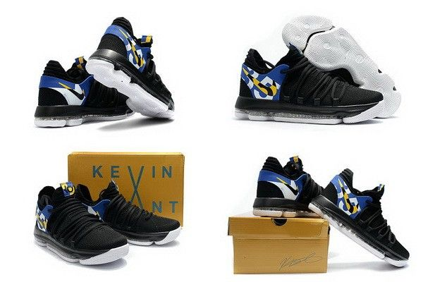 8db343fd5334 Nike KD 10 X Blinders Noir Blanc Multi Color