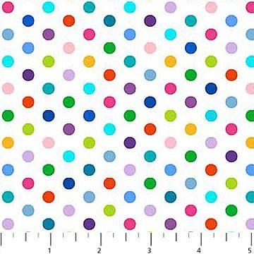 Rainbow Small Spots - Cotton