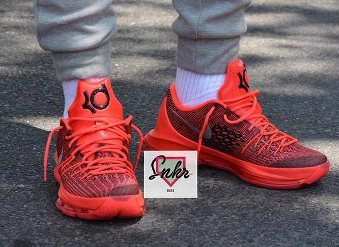 separation shoes bacfd 37d72 ... spain nike kd 8 on foot photos. the next kevin durant signature shoe  boasts a