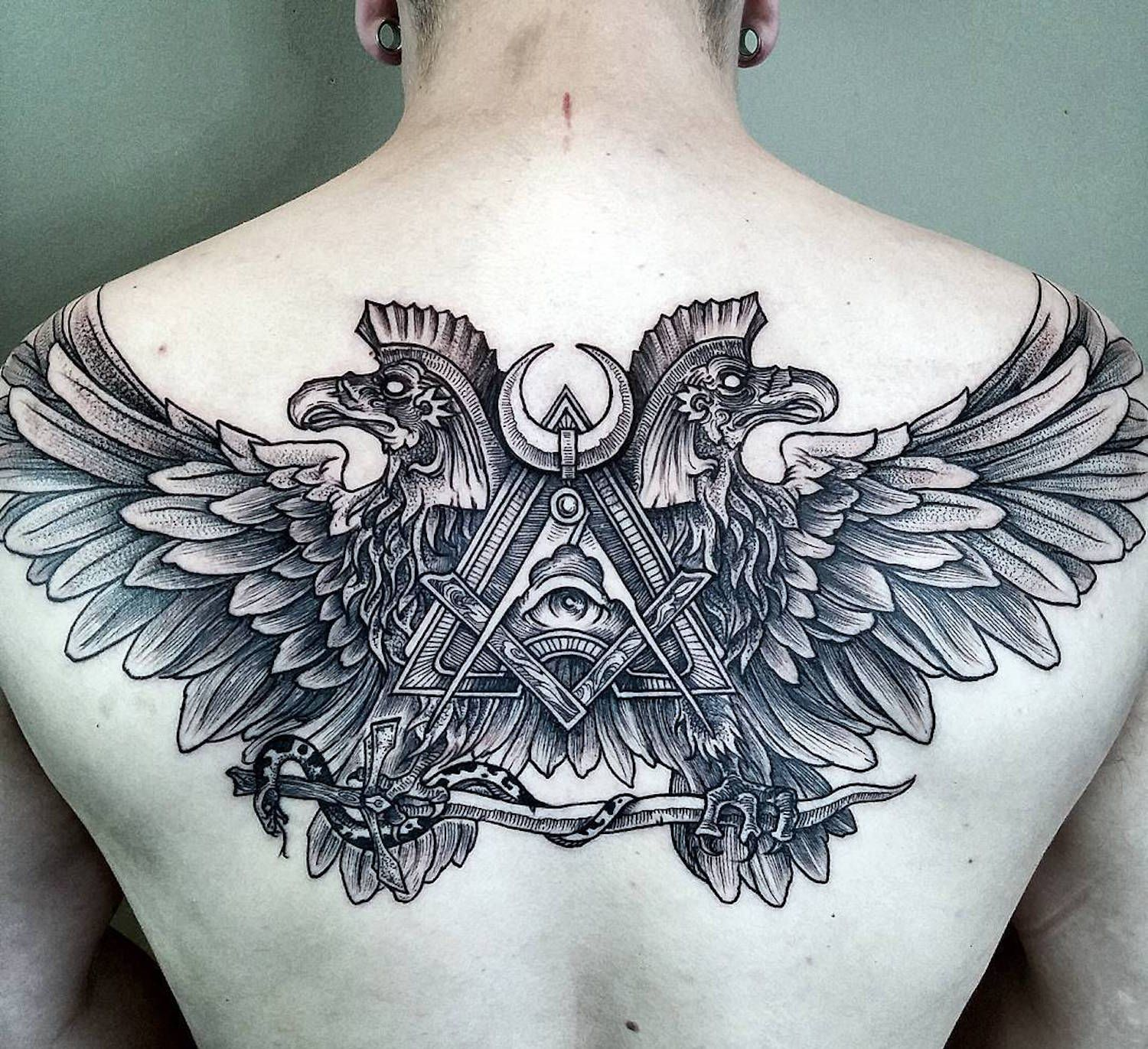 Tattoo designs on the back - Back Tattoo Design Ideas For Men By Phil Tworavens