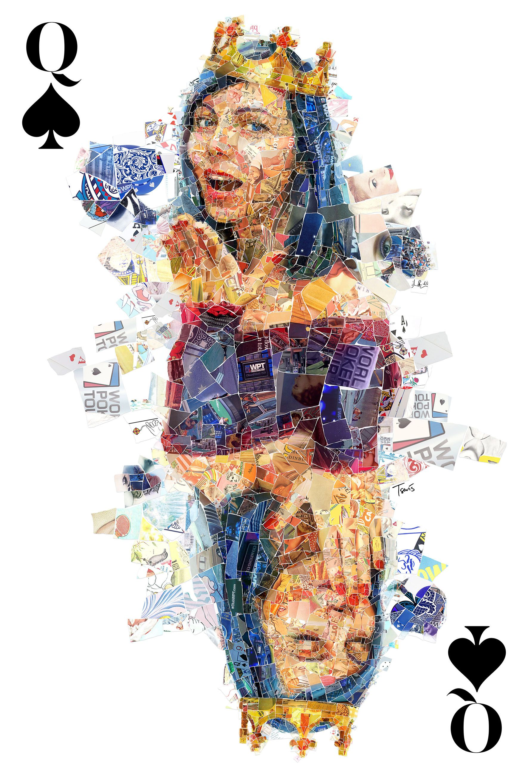 My Queen Of Spades (for The World Poker Tour) #mosaic #photomosaic #