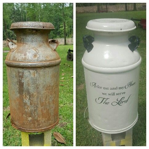 Painted Vintage Milk Can Milk Can Decor Old Milk Cans Painted Milk Cans