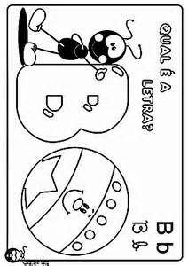 imprimir a desenho figuras e formas alfabeto letra b numéro