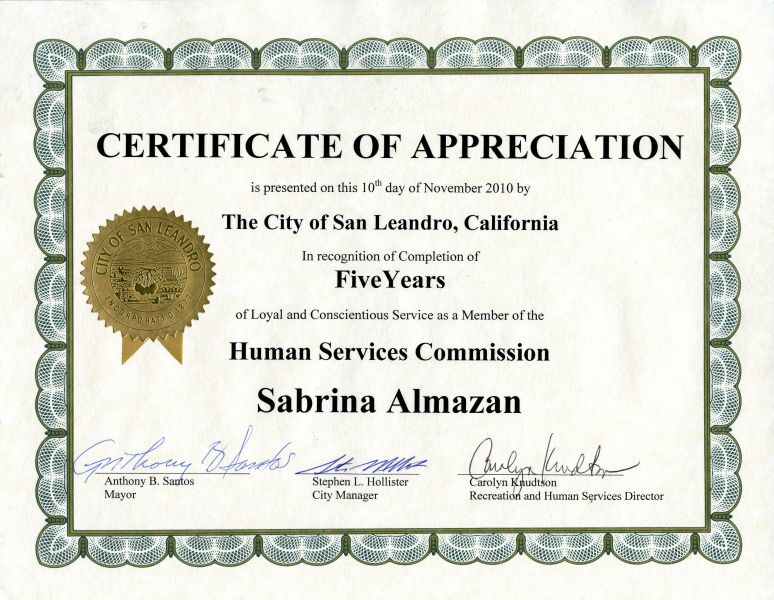 Certificate Of Appreciation   Google  Certificate Of