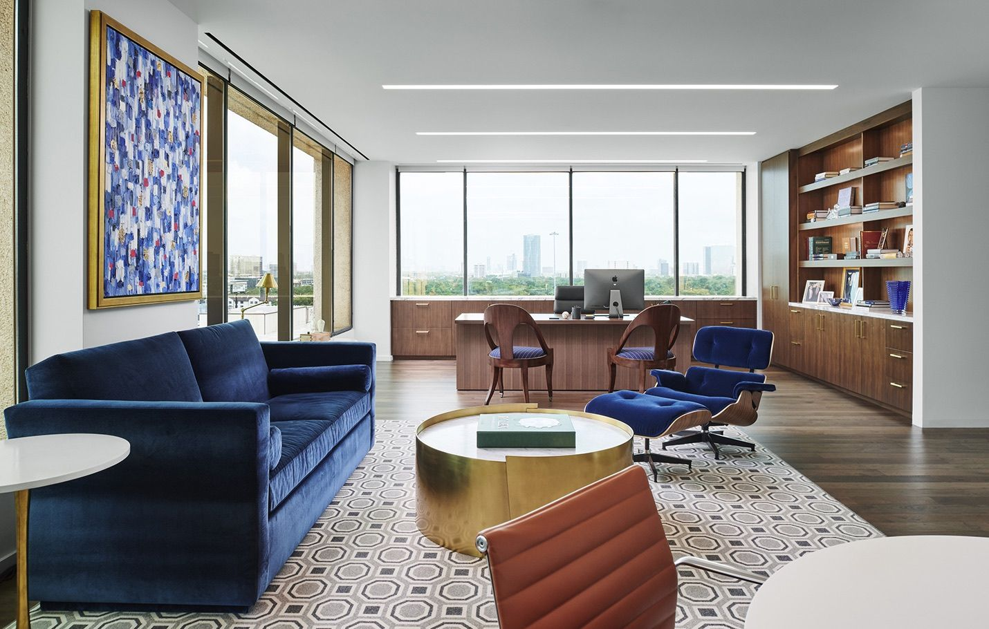 Inside Zehl Associates Elegant Houston Office Home Office