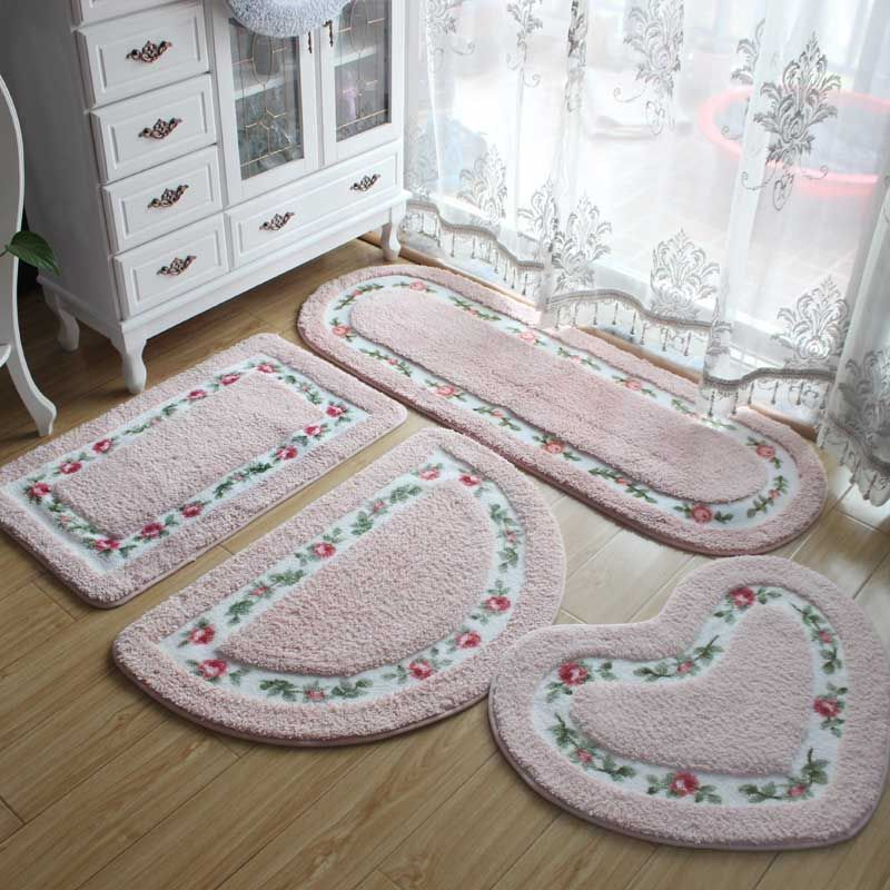 Floor Living Room Bath Mat Anti Slip Doormat Bathroom Carpet For 40*60cm