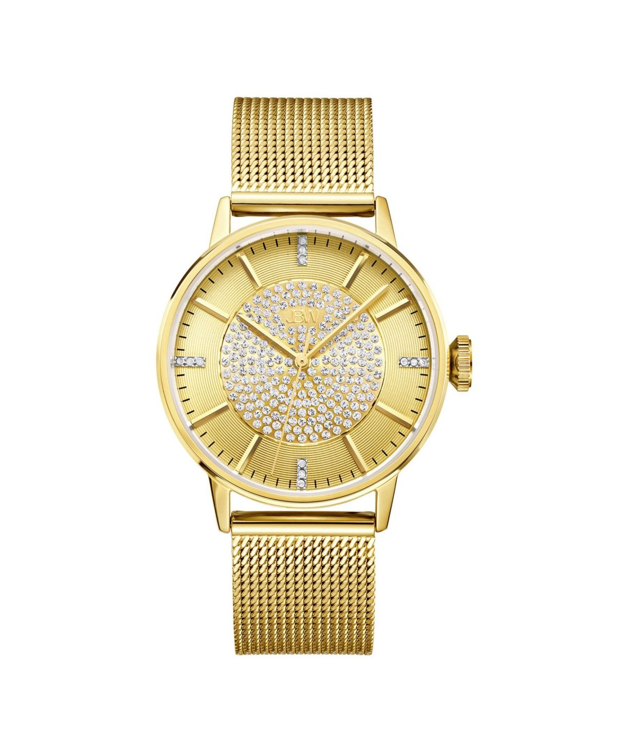 Jbw Women S Belle Diamond 1 8 Ct T W 18k Gold Plated Stainless