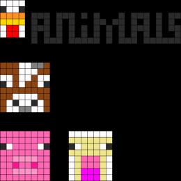 Image of: Pixel Art Minecraft Animal Faces Pinterest Minecraft Animal Faces To Dokids Minecraft Beading Patterns