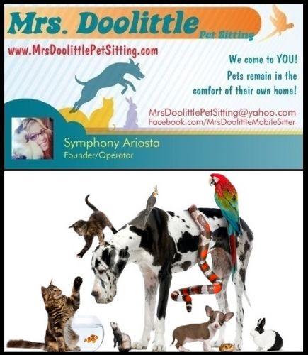 If You Need A Pet Sitter In Fallbrook Mrs Doolittle Pet Sitting