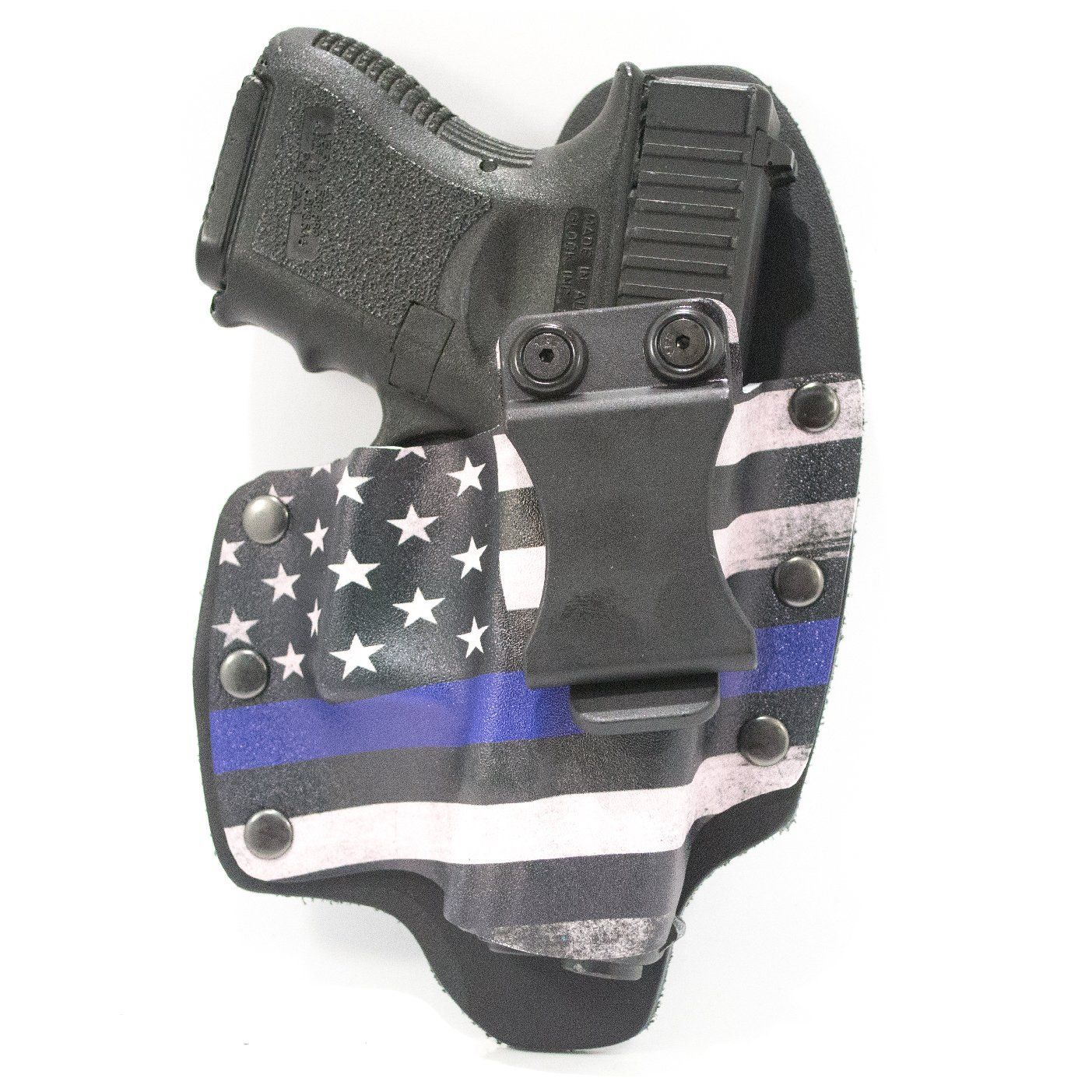 IWB Hybrid Kydex Holster Thin Blue Line for GLOCK Handguns