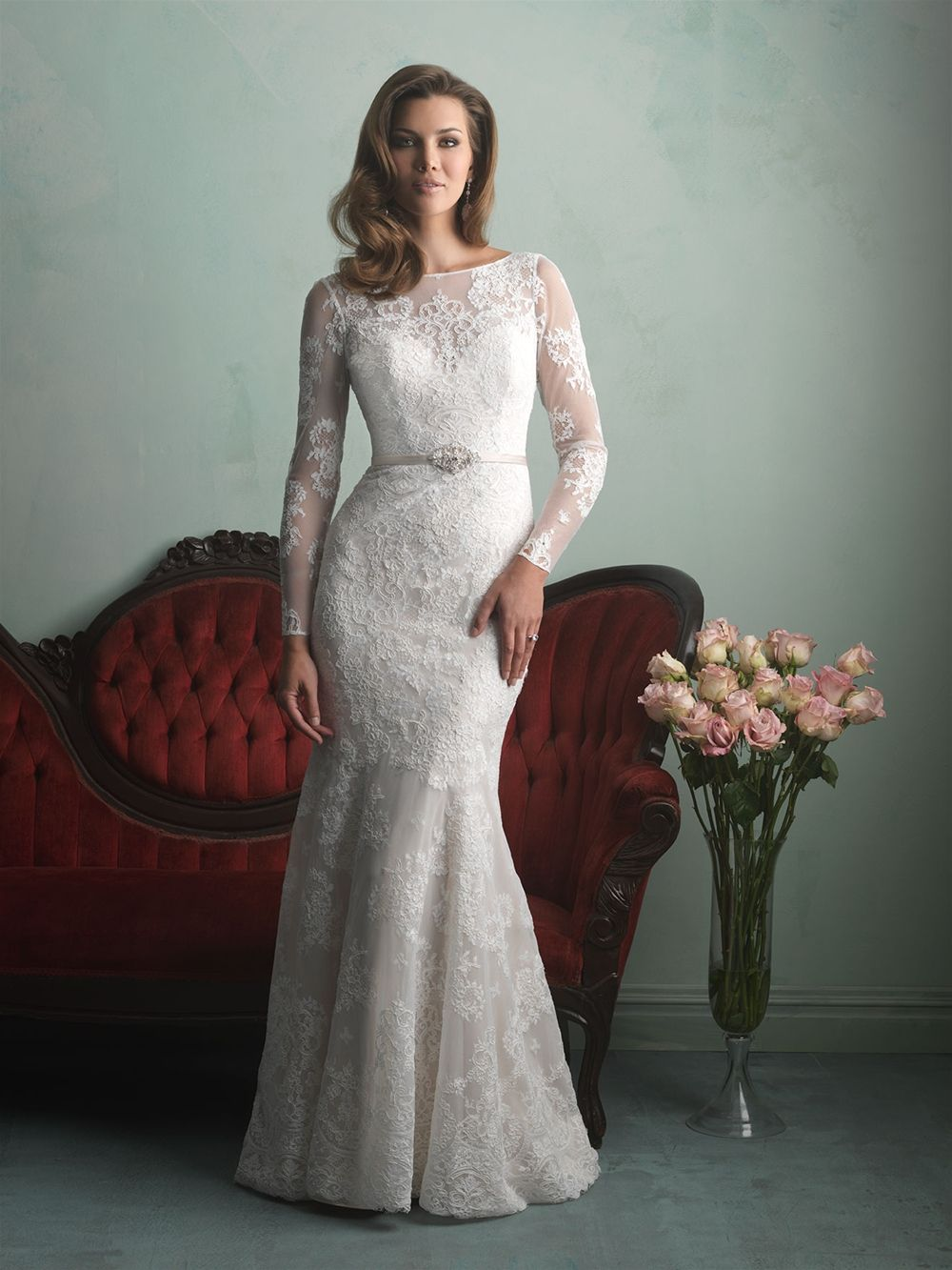 White gold wedding dress  Allure Bridals  Allure Collection  Style   Available colours