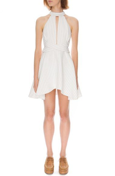 C/MEO 'I'm Here Now' Stripe Fit & Flare Dress available at #Nordstrom