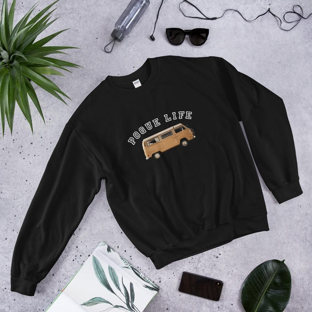 Outer Banks Pogue Life North Carolina Sweatshirt - Netflix Show Crewneck Top / Pogues / John B - Black / S