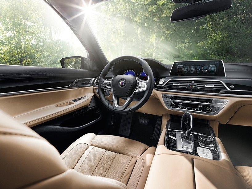 2017 BMW Alpina B7 xDrive paired with precision dynamics, effortless performance and comfort at the highest level. integrated with a 4.4 liter eight-cylinder engine accompanied by twin-turbo charging and direct injection, the car delivers an impressive output of 600bHP between 5750 rpm and 6250 rpm. the result is a luxury four-door that can accelerate from zero to 100 km/h in 3.6 seconds.