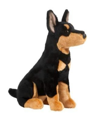Doberman Pinscher Plush Stuffed Animal Toy Dobie Puppy Plush