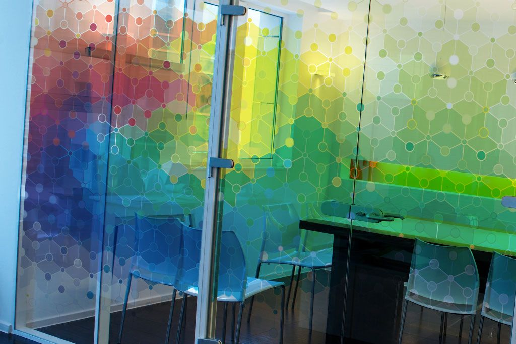 Office Glass Graphic Design Nonfacture Using Optical