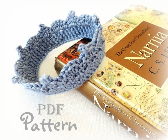 PDF CROCHET PATTERN - Make It Yourself: Baby Crown Crochet Pattern for Boy or Girl, Baby Tiara Pattern, Lots of Photos, Digital Download #crownscrocheted