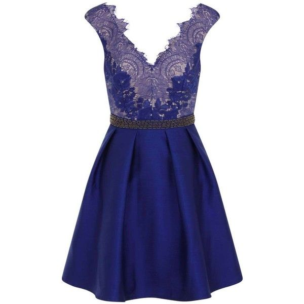 Little Mistress Cobalt Embellished Dress 127 Liked On