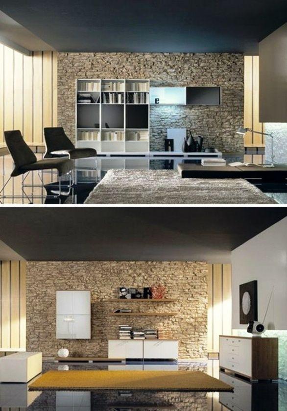 naturliche interieur mit stein haus design bilder, natursteinwand im wohnzimmer – der natürliche charme von echtem, Design ideen
