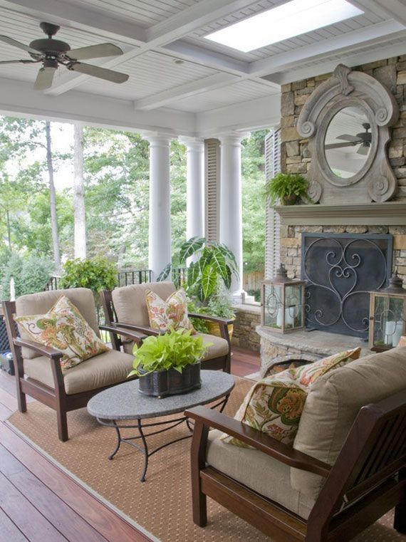 Outdoor Covered Patio With Fireplace Great Addition Idea Dream Dream Dream: Front Porch Design Ideas To Inspire You In Building And Decorating Your Own