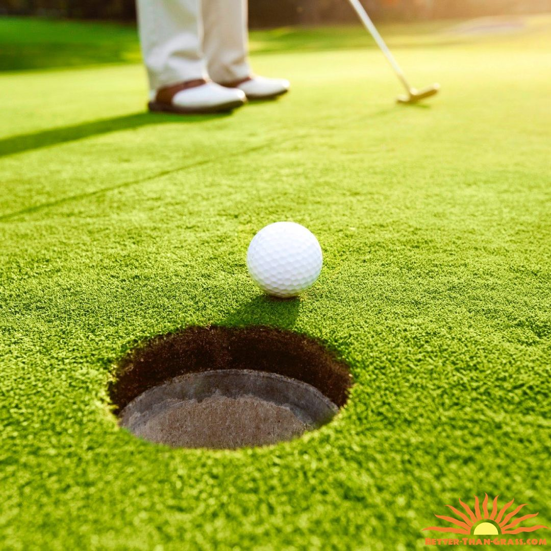 creating a backyard putting green is much cheaper than going out